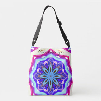 blue purple mandala Thunder_Cove Crossbody Bag