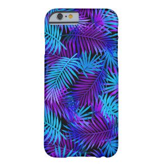 Blue Purple Neon Tropical Pattern iPhone 6 Case