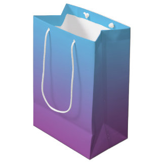 Blue & Purple Ombre Medium Gift Bag