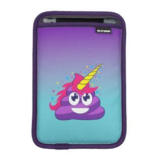 Blue & Purple Ombre Unicorn Poo Emoji iPad Mini Sleeve