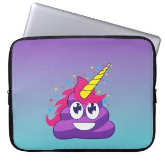 Blue & Purple Ombre Unicorn Poo Emoji Laptop Sleeve