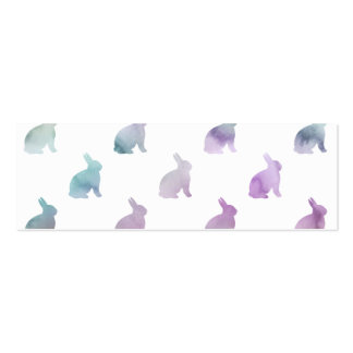 Blue Purple Pastel Watercolor Bunny Background Pack Of Skinny Business Cards