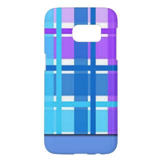 Blue & Purple Plaid Design