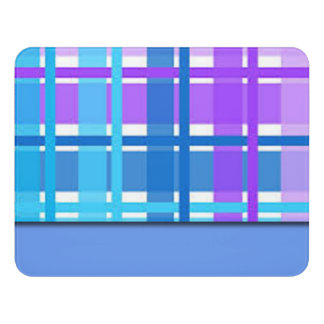 Blue & Purple Plaid Design Door Sign