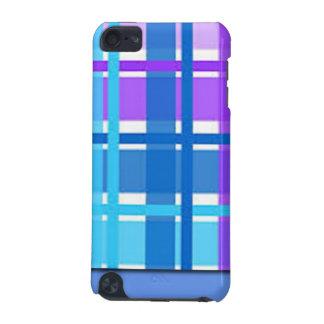 Blue & Purple Plaid Design iPod Touch (5th Generation) Case