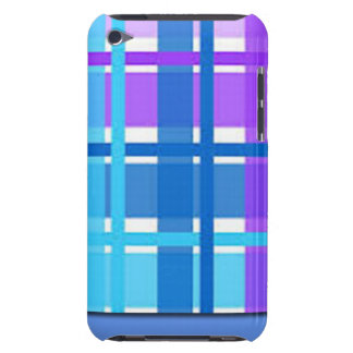 Blue & Purple Plaid Design iPod Touch Case