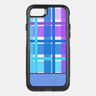 Blue & Purple Plaid Design OtterBox Commuter iPhone 8/7 Case