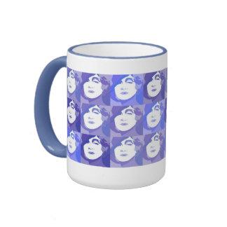Blue Purple Popart Lady Fashionable Office Mug