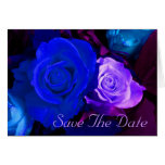 Blue Purple Rose Save The Date Greeting Cards