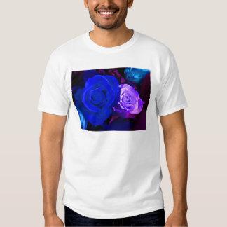 Blue Purple Rose Tee Shirt