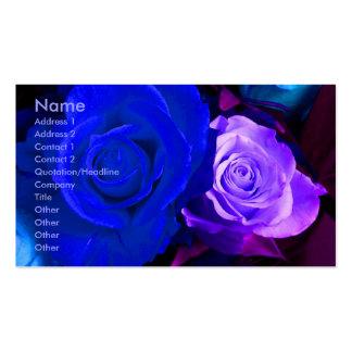 Blue Purple Roses Artist Business Card Business Card Templates