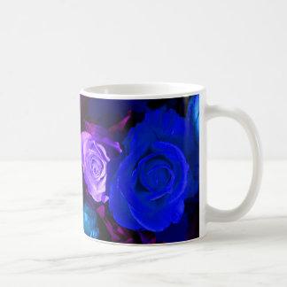 Blue Purple Roses I Mug - Customizable Coffee Mugs
