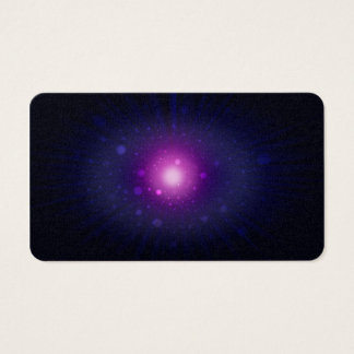 Blue Purple Space Galaxy Stars Abstract Business Card