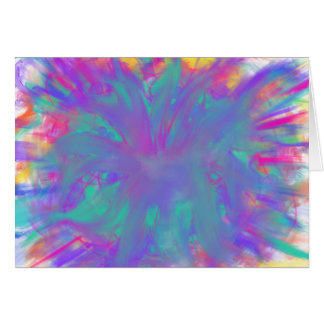Blue Purple Star Abstract Art Painting Design Card
