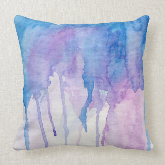 Blue & Purple Watercolor | Throw Pillow