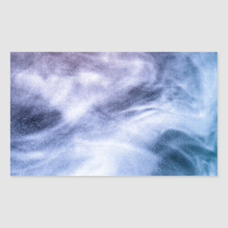Blue purple white abstract heavenly clouds smoke rectangular sticker