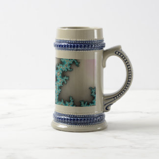 Blue Purple White Abstract Lightening Beer Stein