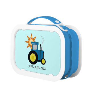 Blue Putt Putt Tractor Lunch Boxr Lunch Boxes