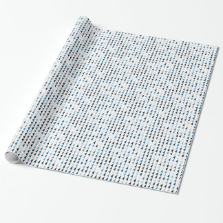 blue pyramid pattern 04 wrapping paper
