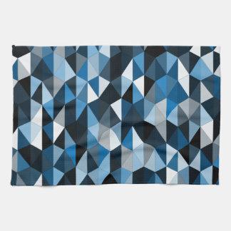 blue pyramid pattern 07 kitchen towels