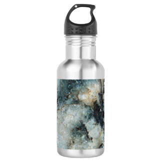 Blue Quartz Mineral Rock Texture 532 Ml Water Bottle
