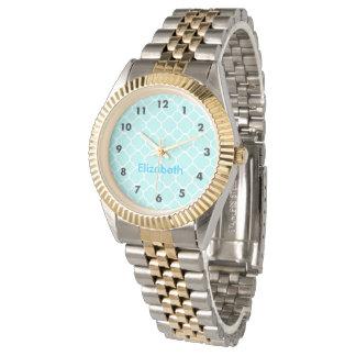 Blue Quatrefoil Watch
