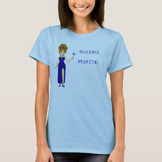 Blue Queenie Martini T-Shirt