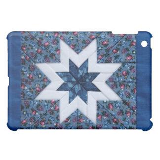 blue quilt star ipad case
