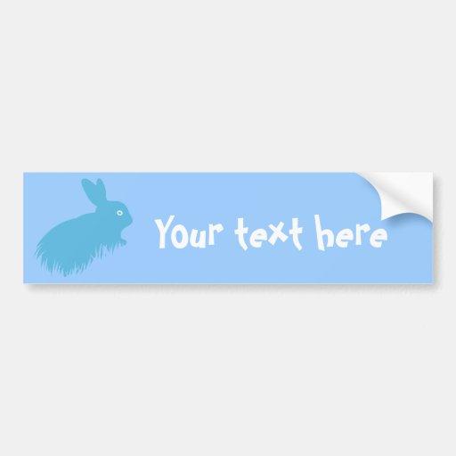 Blue Rabbit Bumper Sticker