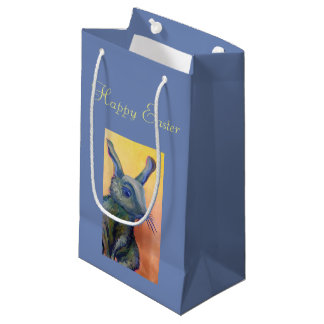 blue rabbit Easter bunny bag