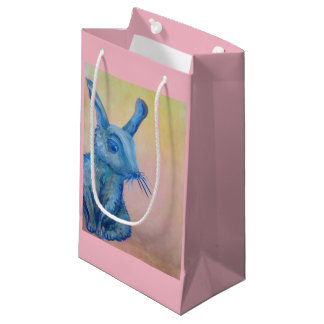 blue rabbit gift bag
