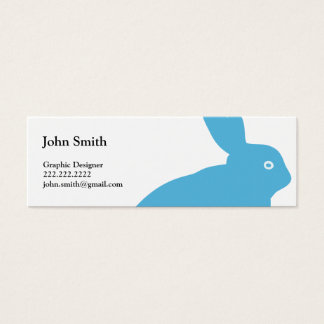Blue Rabbit Graphic Designer Mini Business Card