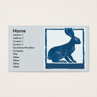 Blue Rabbit  on Abstract Business Card