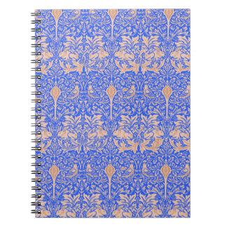 Blue Rabbits William Morris Art Nouveau Notebook