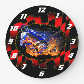 Blue racer large clock