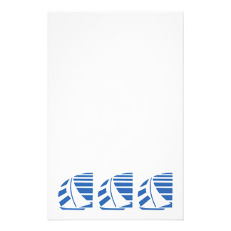 Blue Racing Sail Boats Custom Stationery