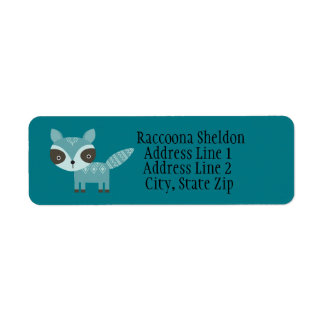 Blue Racoon Custom Return Address Labels