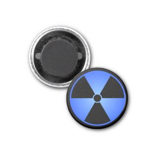 Blue Radiation Symbol 3 Cm Round Magnet