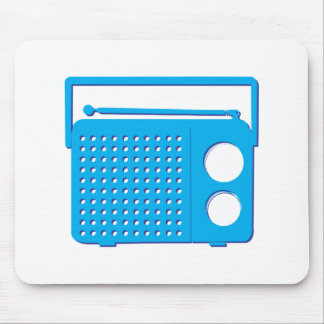 Blue Radio Mouse Pads