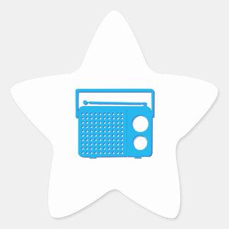 Blue Radio Star Stickers