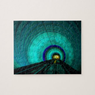 Blue railroad tunnel, Singapore Jigsaw Puzzle