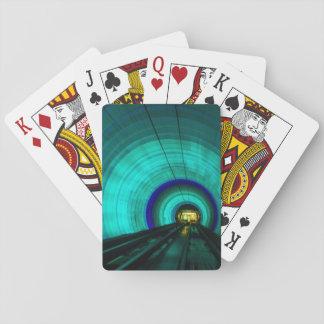 Blue railroad tunnel, Singapore Poker Deck