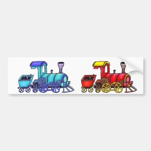 blue railway bumper stickers
