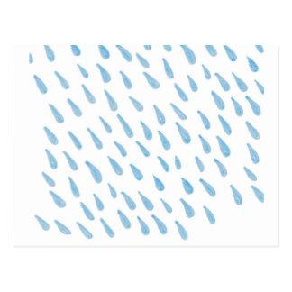 Blue Rain Drop Postcard
