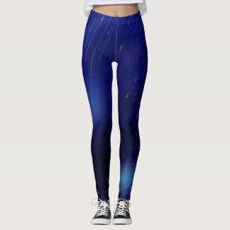 Blue rain leggings