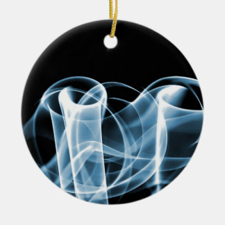 Blue - Rainbow Waves Collectible Christmas Tree Ornaments