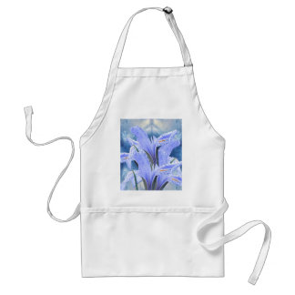 Blue raindrop Iris Aprons