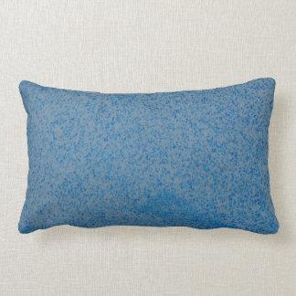 Blue random speckle double sided lumbar cushion