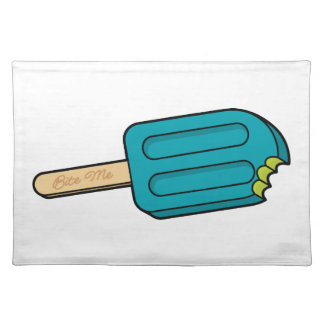 Blue Raspberry Popsicle Bite Me Placemat