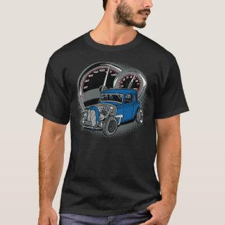 Blue Rat Rod Street Car T-Shirt